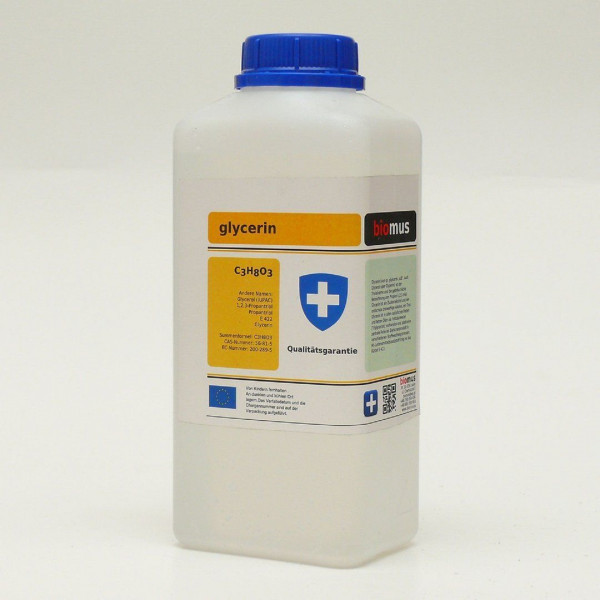 1 Liter Glycerin 99,5%25 E422 Propantriol Glycerol Pharmaqualität rein pflanzl.
