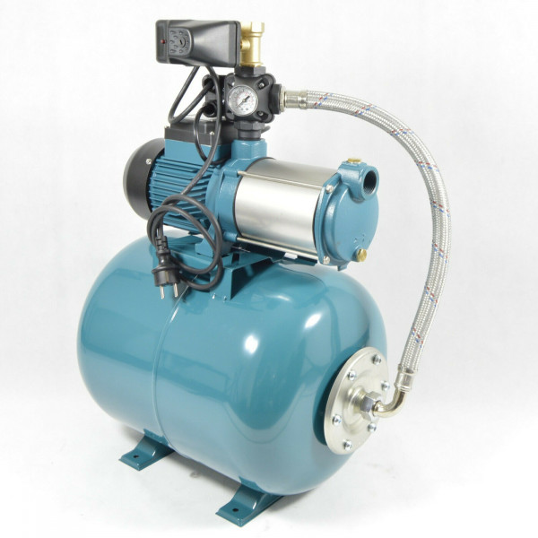 Hauswasserwerk 50Liter + 1300Watt Pumpen INOX + Druckschalter + SK13