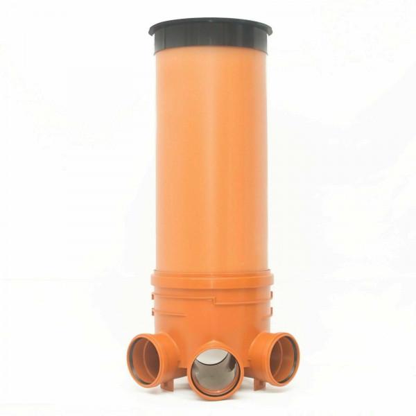 KG Schacht DN400/DN160 - Komplett SET - KG Rohr - Kanal Entwässerung - Deckel