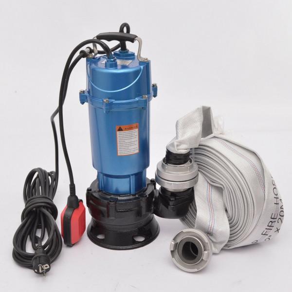 Fäkalienpumpe Tauchpumpe Schmutzwasserpumpe Magnum 4500 1,5kW + 30m C-Schlauch