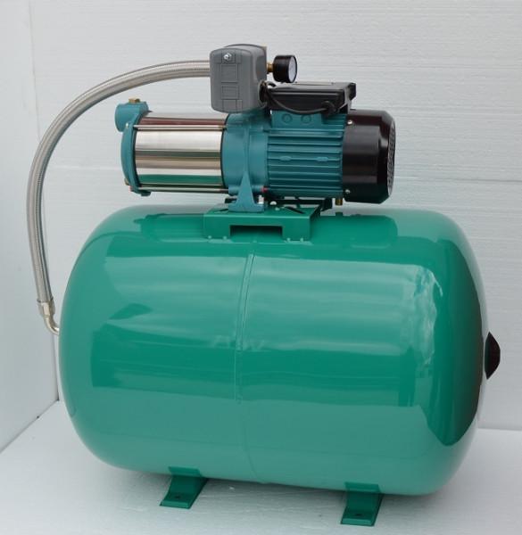 Hauswasserwerk 100 Liter mit Pumpe 1300Watt INOX Edelstahl mit Druckschalter