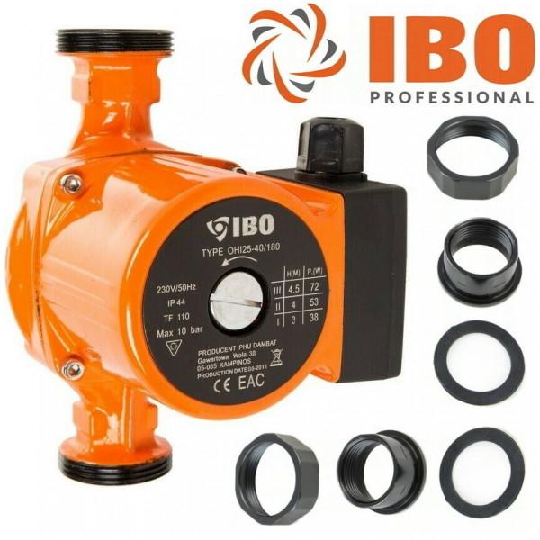 Umwälzpumpe Heizungspumpe IBO 25-60/180 Pumpe + Verschraubung