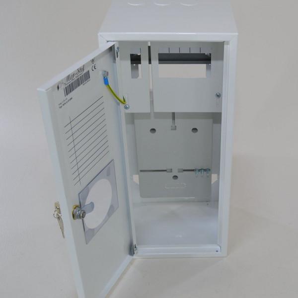 Zählerschrank Sicherungskasten Verteilerkasten für 1 x Zähler 1-Ph + 6 Sicherungen + Fenster
