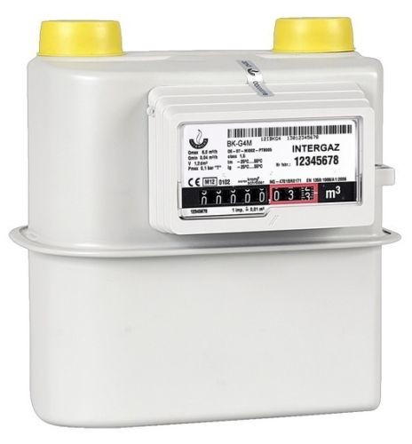 Gaszähler G4 Zweirohr 2 Rohr 130 mm bis 6m³ /h Zweistutzen aktuelle Eichung
