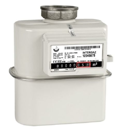 Gaszähler G4 Einrohr 1 Rohr bis 6m³ /h Einstutzen aktuelle Eichung