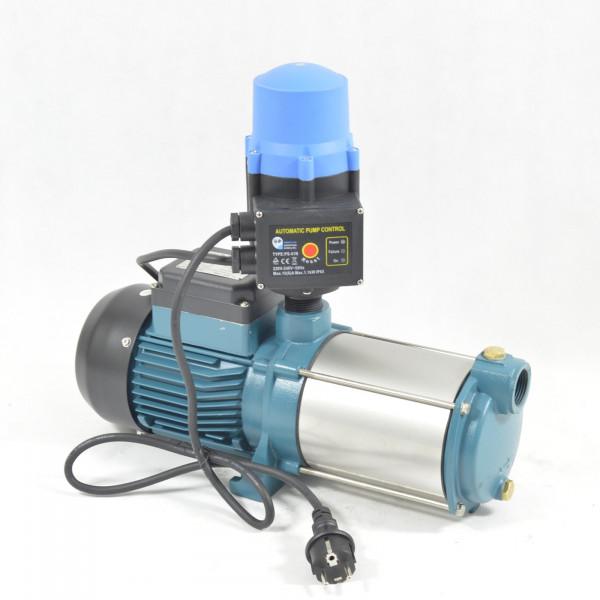 Kreiselpumpe Hauswasserwerk Gartenpumpe INOX 1300W 6000L/H - 5,5bar + Steuerung PS-01