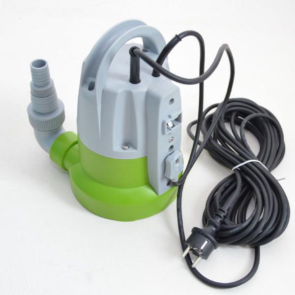 Flachsaugende Tauchpumpe 400W Flachsaugend bis 1-2 mm Partikelgröße bis 5 mm