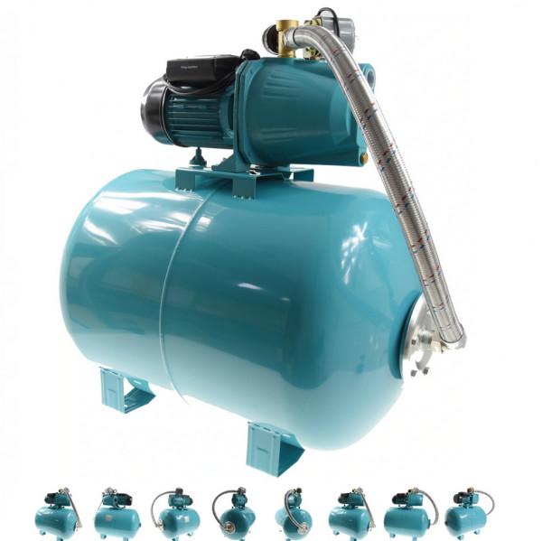 100 L Hauswasserwerk Pumpe 1100 W Hauswasserautomat Gartenpumpe