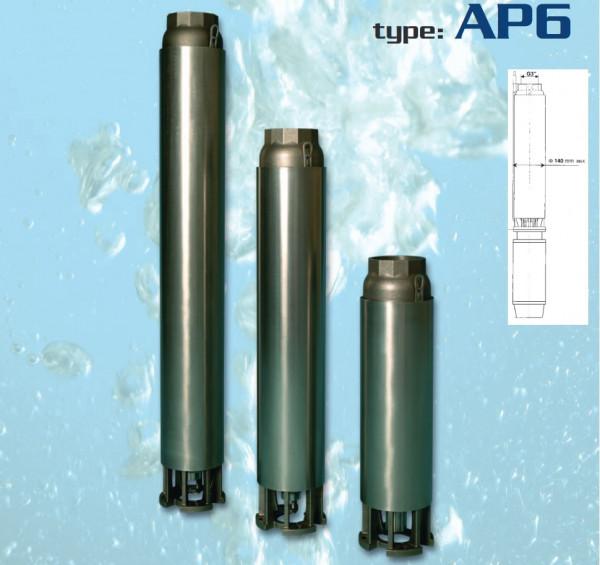 "Italienische 6"" Tiefbrunnenpumpe AP6 I4 950L/min 5,5kW Anschluß 3"" 5,1bar"
