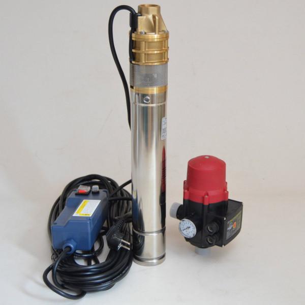 """Tiefbrunnenpumpe 3"""" 750W 2400L/h 6 bar oder Tiefbrunnenpumpe mit Schaltautomatik"""