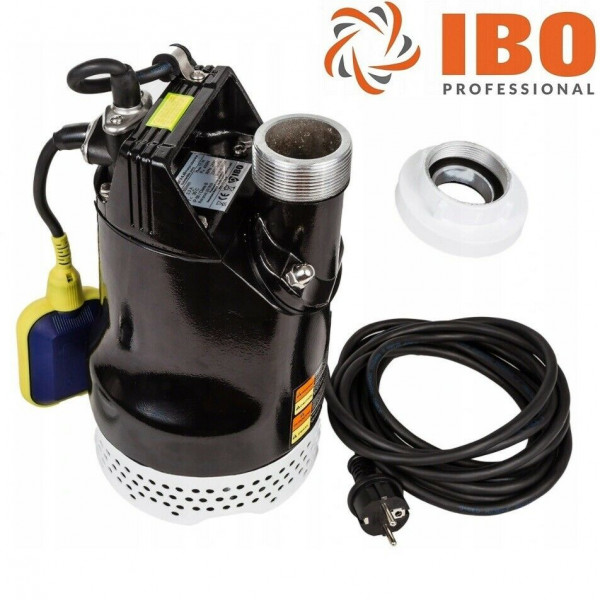 "IBO Profi Drainagepumpe Pumpe Tauchpumpe Baustellenpumpe - 280l/min - 2"" - 230V - Förderhöhe 11m"