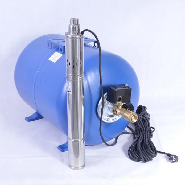 100 L Hauswasserwerk mit Tiefbrunnenpumpe 11bar 2400l/h