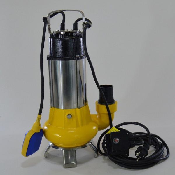 Fäkalienpumpe Tauchpumpe Schmutzwasserpumpe 1,1kW m. freiem Durchlauf bis 35 mm