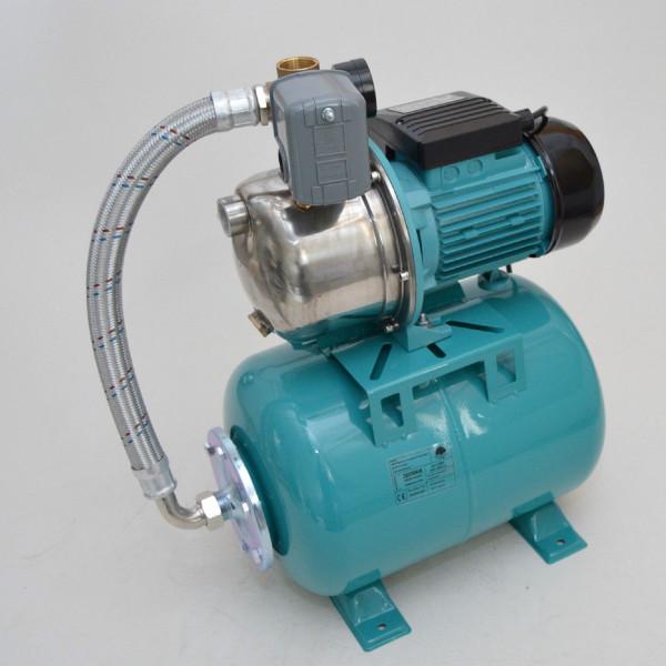 Hauswasserwerk Hauswasserautomat 24 Liter Pumpe 1100 W Gartenpumpe Jetpumpe