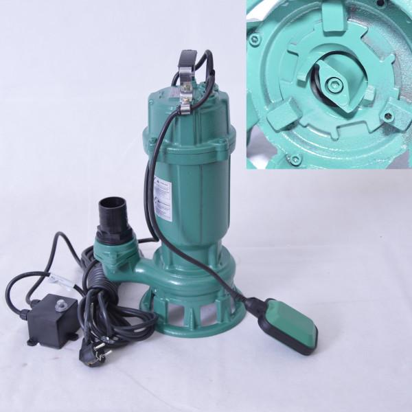 Profi Schmutzwasserpumpe Fäkalienpumpe 0,5 kW mit Cutter / Schneidwerk 250L/min