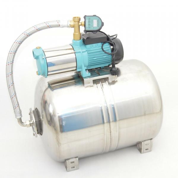 Edelstahl 100L Hauswasserwerk 6000L/h 1,3kW 5,5bar Digitaler Trockenlaufschutz