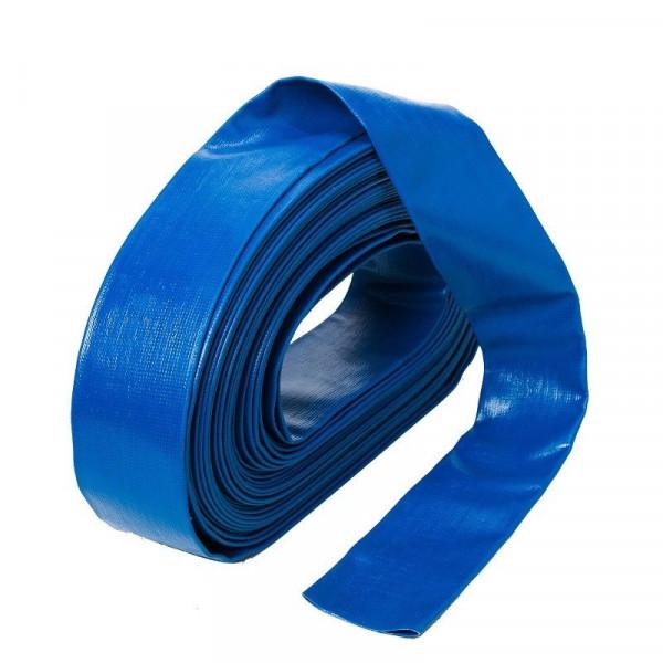 "50m 1 1/2 "" PVC Flachschlauch Wasserschlauch Flexibler Schlauch Pumpenschlauch"
