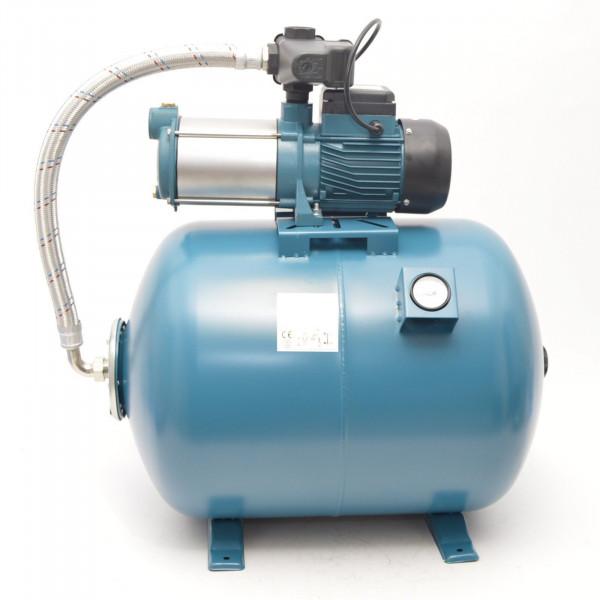 100L Hauswasserwerk Hauswasserautomat Vorfilter Luftdruckmano Gartenpumpe 1,3kW