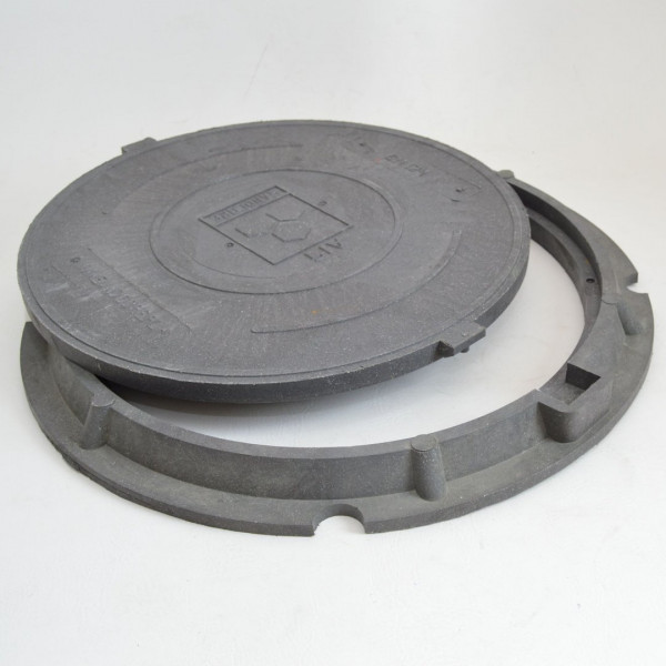 Profi Schachtabdeckung DN600 mit Flanschrahmen Sandcore 1,5T Schachtdeckel A15