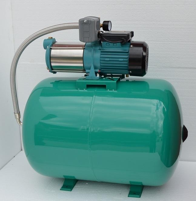 hauswasserwerk 100 liter mit pumpe 1300watt inox edelstahl mit druckschalter hauswasserwerke. Black Bedroom Furniture Sets. Home Design Ideas