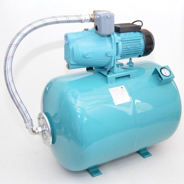 80L mit Luftdruckmano Hauswasserwerk Pumpe 1100 W Hauswasserautomat Gartenpumpe