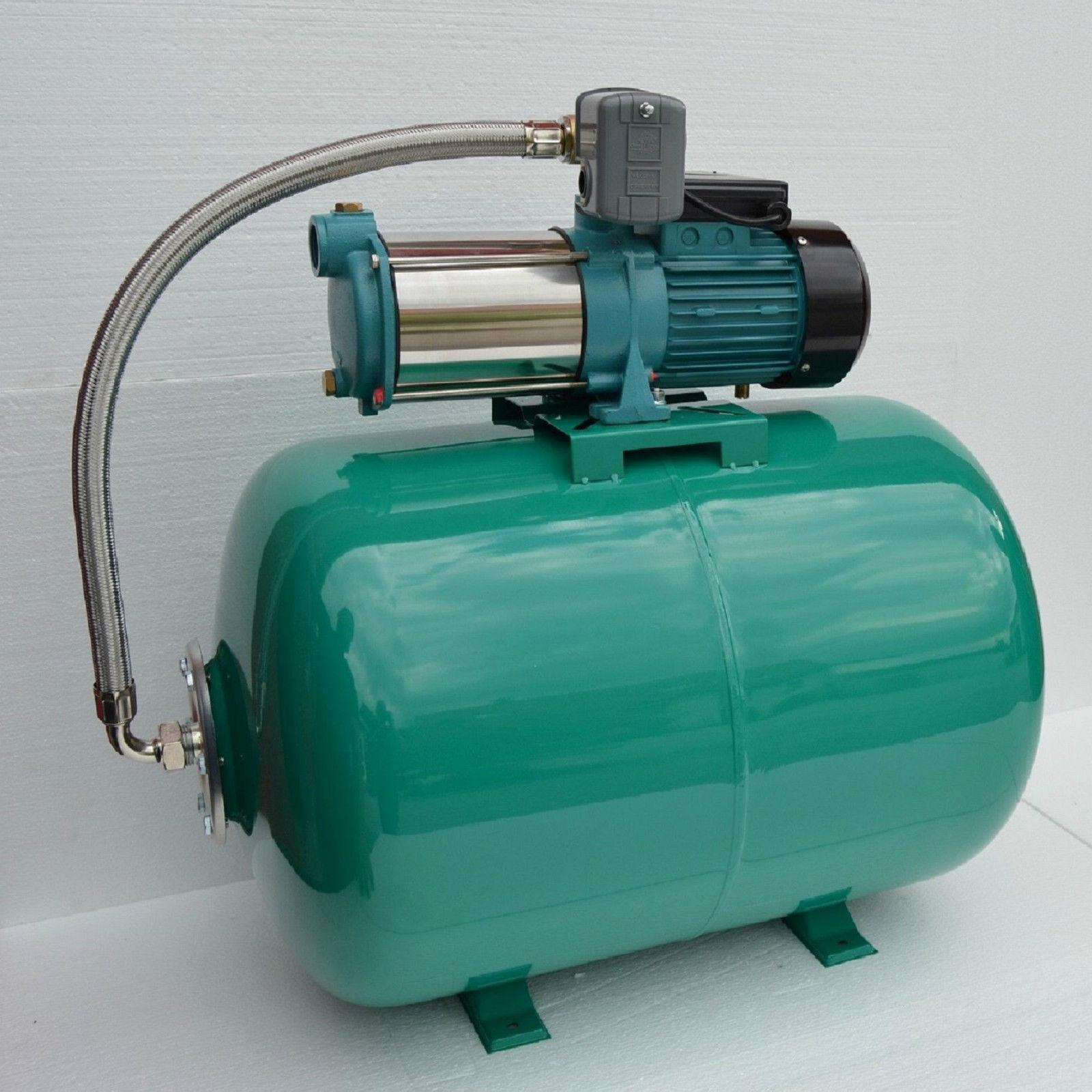 100 l hauswasserwerk pumpe 1300 inox edelstahl hauswasserautomat