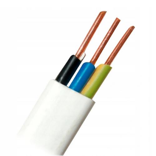 25m Flach Feuchtraumkabel Kupfer Kabel Leitung YDY NYM-J 3x1,5