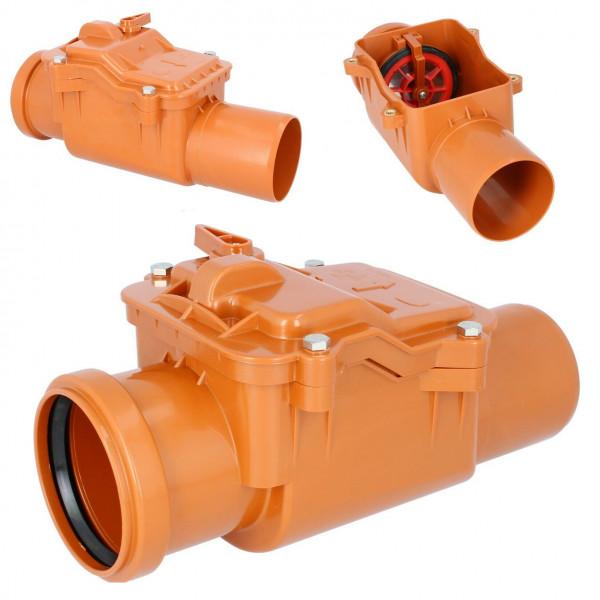 Rückstauklappe Ø 110 mm Rückstauverschluss Rattenschutz Geruchsverschluss