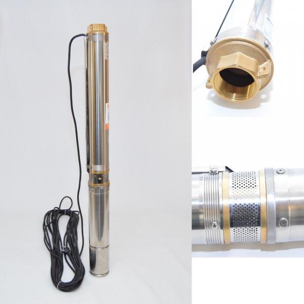 "Tiefbrunnenpumpe 3,5"" 89 mm 6300 l/h 10,9 bar sandresistent bis 5%"