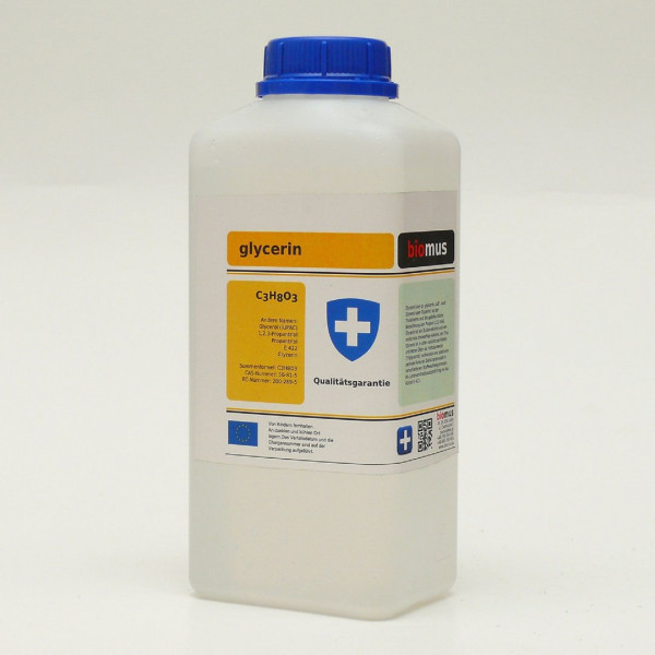 1 Liter Glycerin 99,5% E422 Propantriol Glycerol Pharmaqualität rein pflanzl.