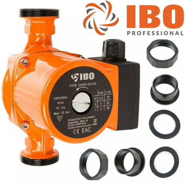 Umwälzpumpe Heizungspumpe IBO 25-40/180 Pumpe + Verschraubung