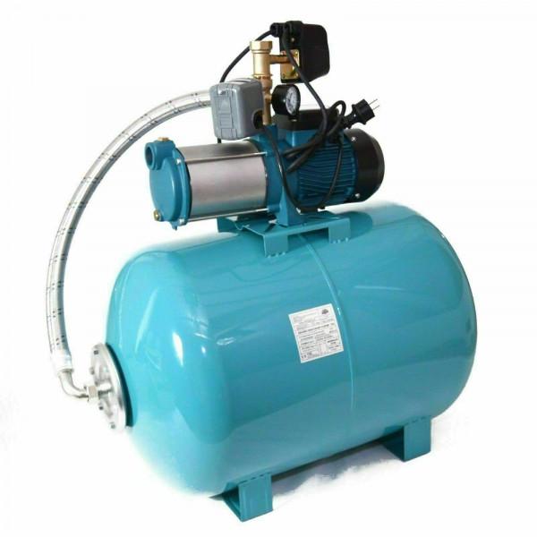 Hauswasserwerk 100L + Pumpe 1300W INOX + Pumpensteuerung Trockenlaufschutz