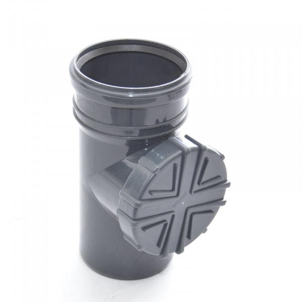 Fallrohrfilter Regenrohrfilter m. Laubfang DN100 Ø110 HT / KG- Rohre Farbe Graphite