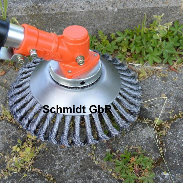 Unkrautbürste Wildkrautbürste Fugenbürste Motorsense 25,4x200mm