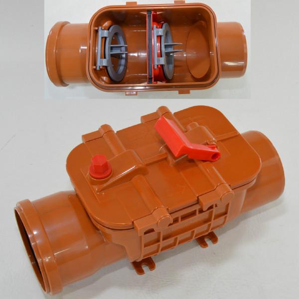 Rückstauklappe Ø 110 mm Rückstauverschluss Rattenschutz Doppel Geruchsverschluss