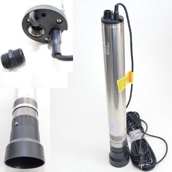 "Tiefbrunnenpumpe Brunnenpumpe Automat 4"" 98 mm bis 5400 l/h 1,1kW 5bar Automatik"